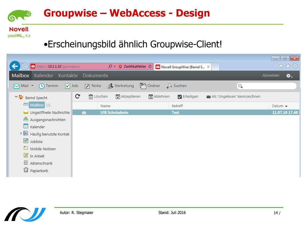 Groupwise – WebAccess - Design