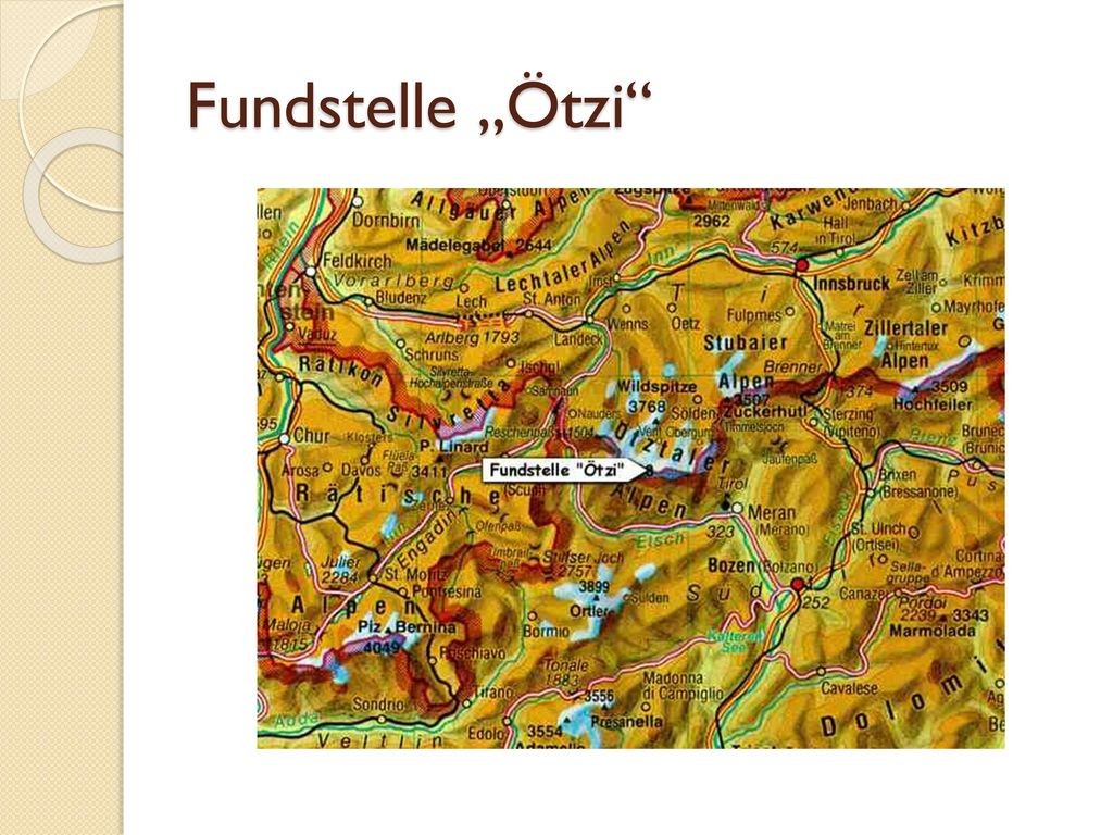 """Fundstelle """"Ötzi"""