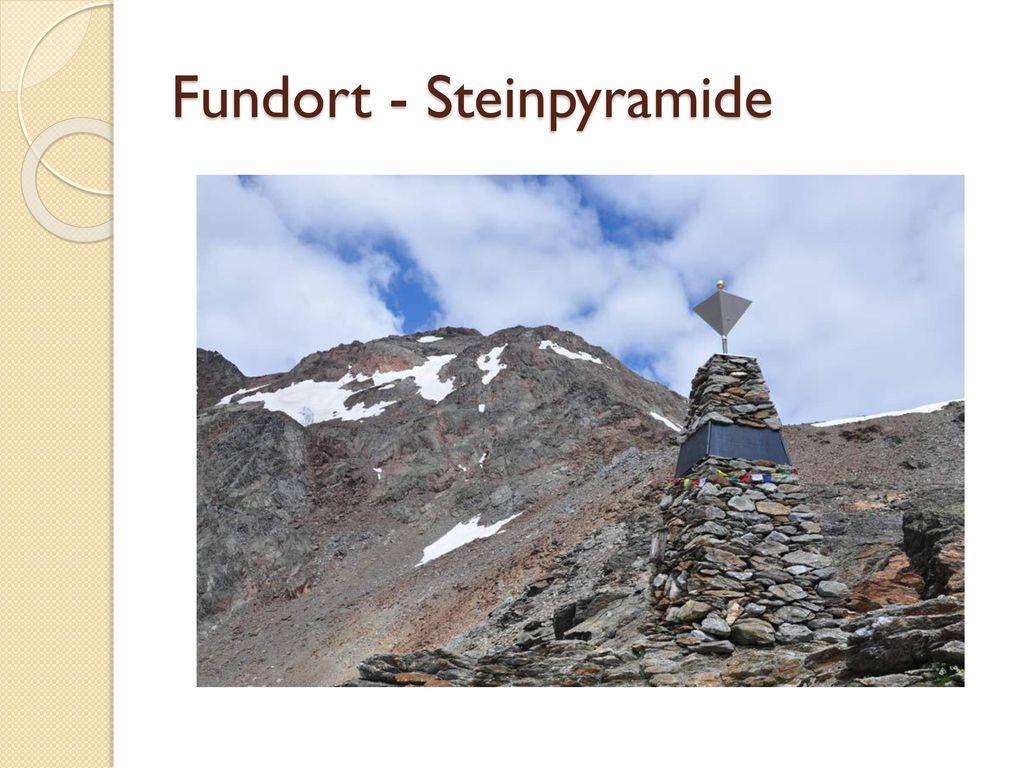 Fundort - Steinpyramide