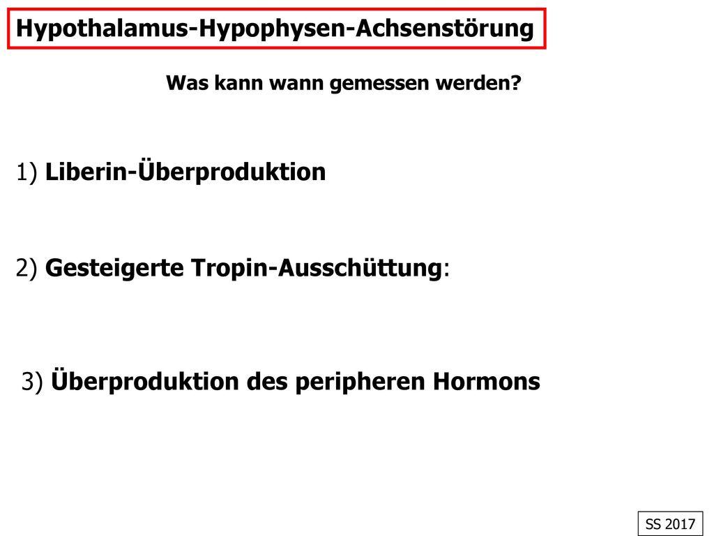 Hypothalamus-Hypophysen-Achsenstörung
