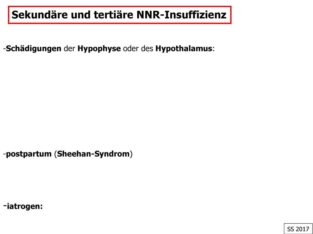 Sekundäre und tertiäre NNR-Insuffizienz