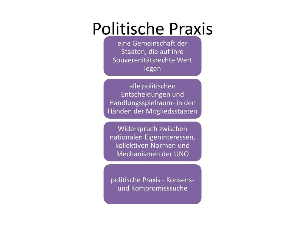 politische Praxis - Konsens-und Kompromisssuche