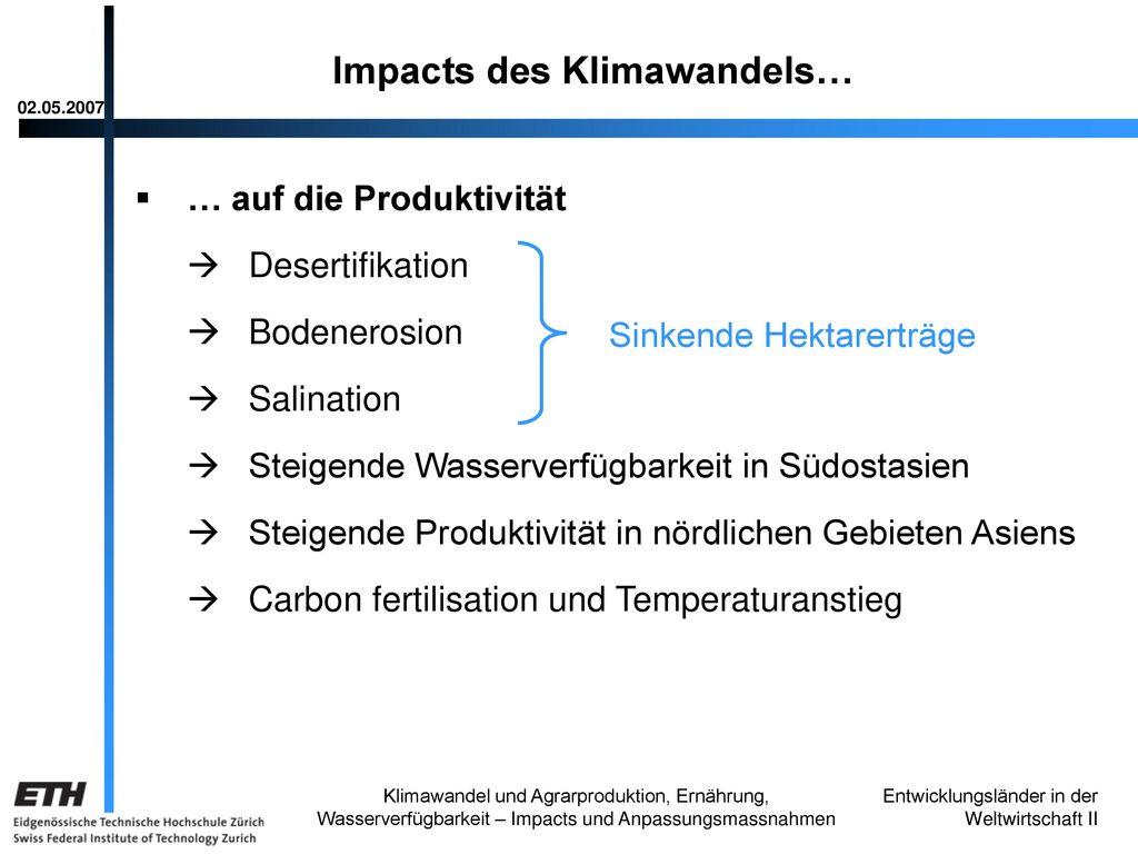 Impacts des Klimawandels…