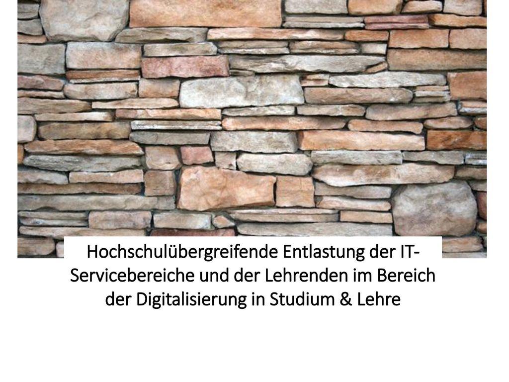 Hochschulübergreifende Entlastung der IT-Servicebereiche und der Lehrenden im Bereich der Digitalisierung in Studium & Lehre