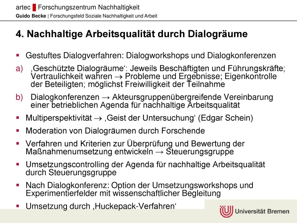 4. Nachhaltige Arbeitsqualität durch Dialogräume