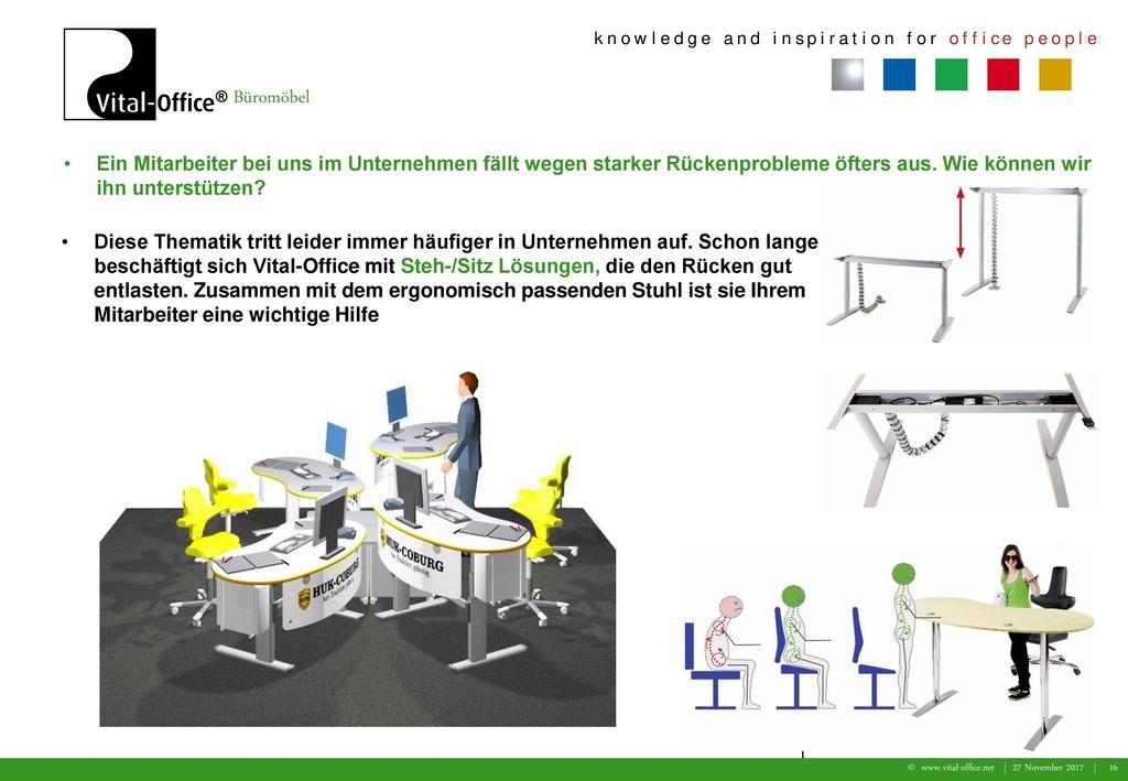 Ein Mitarbeiter bei uns im Unternehmen fällt wegen starker Rückenprobleme öfters aus. Wie können wir ihn unterstützen