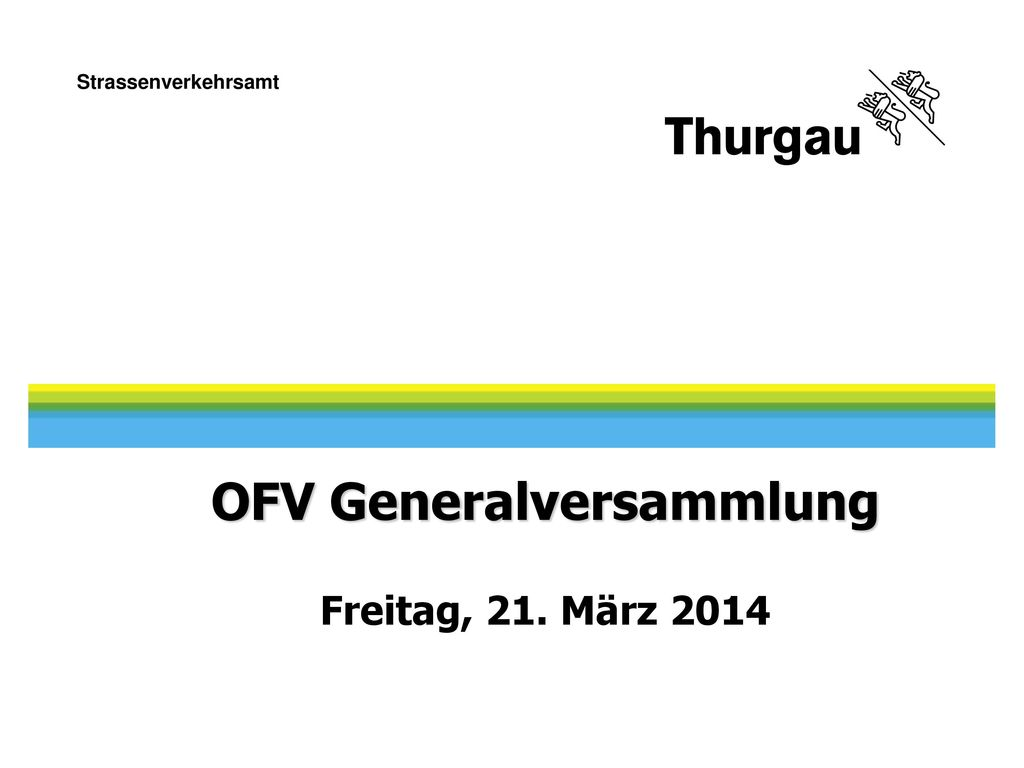 OFV Generalversammlung