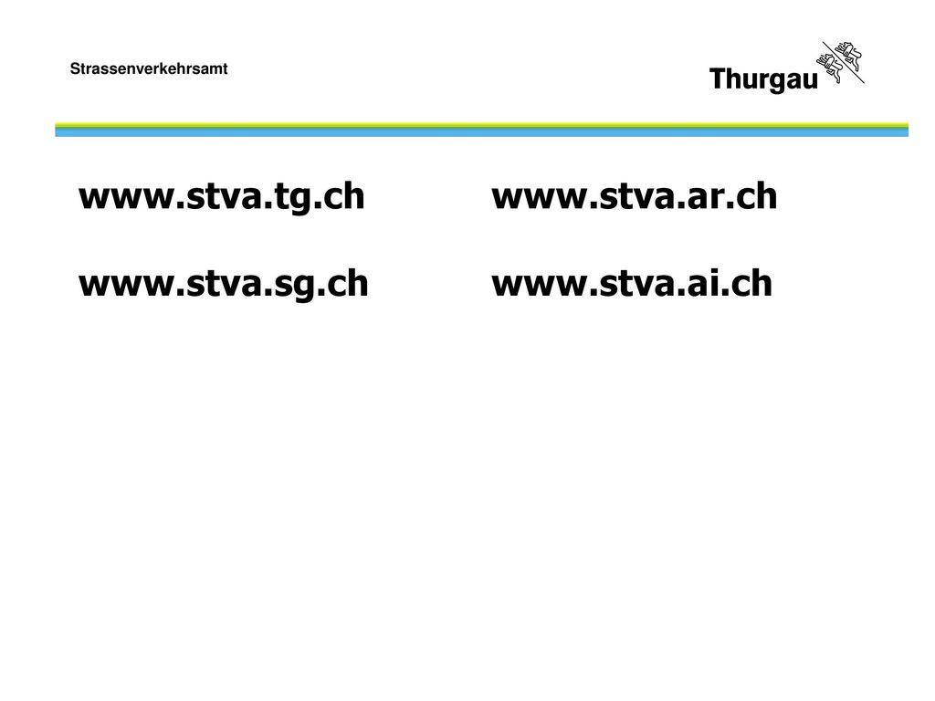 www.stva.tg.ch www.stva.ar.ch www.stva.sg.ch www.stva.ai.ch