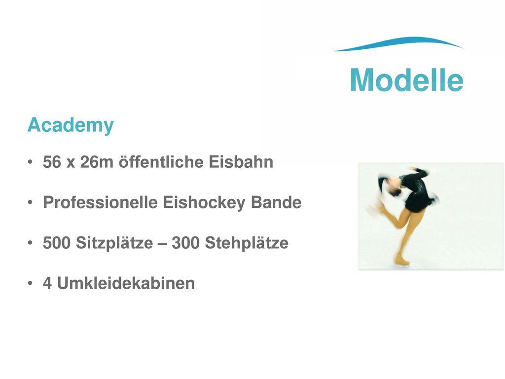 Modelle Academy 56 x 26m öffentliche Eisbahn