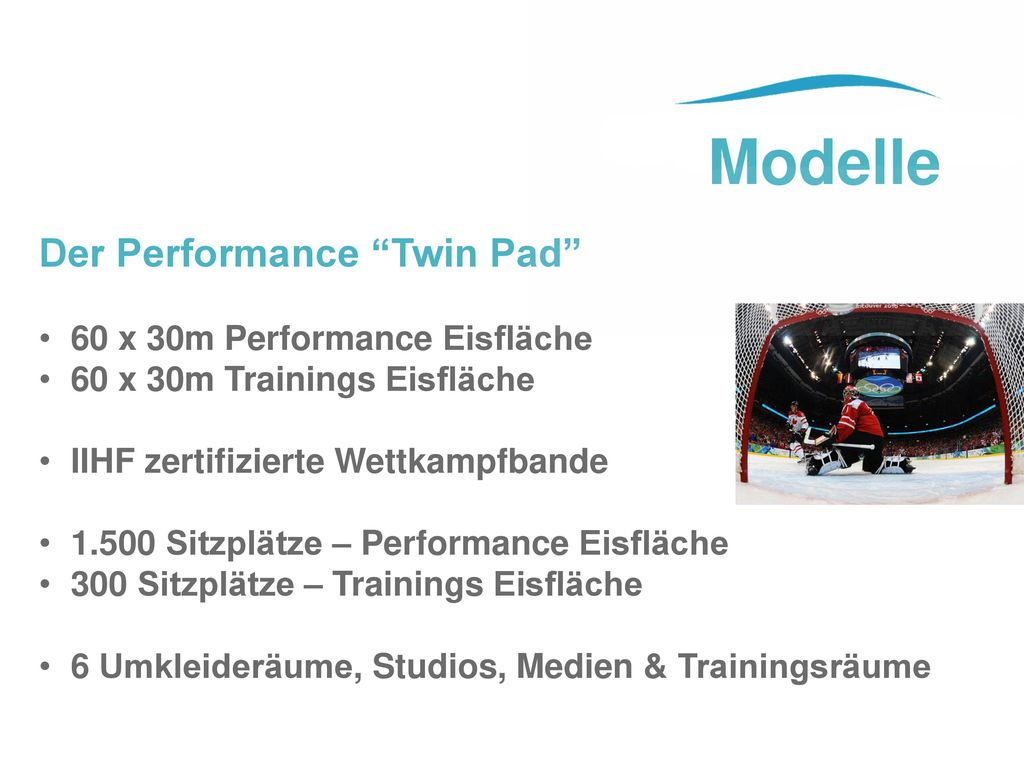 Modelle Der Performance Twin Pad 60 x 30m Performance Eisfläche