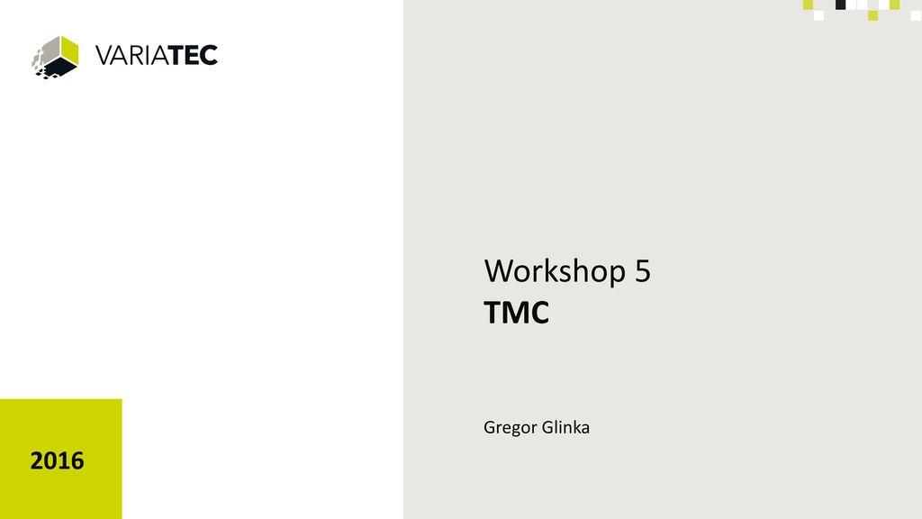 Workshop 5 TMC 2016 Gregor Glinka