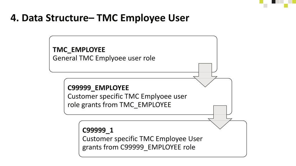 4. Data Structure– TMC Employee User