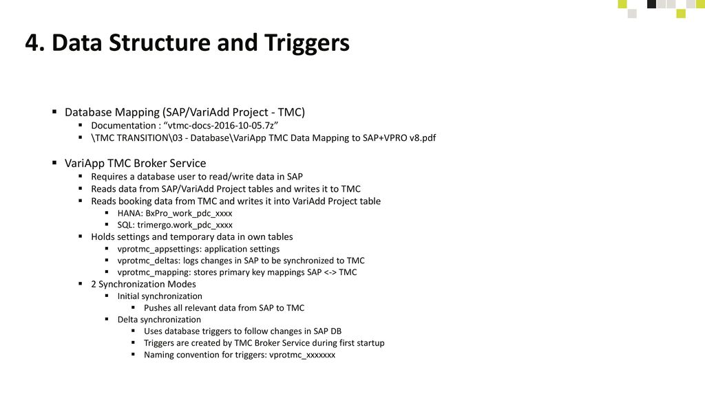 4. Data Structure and Triggers
