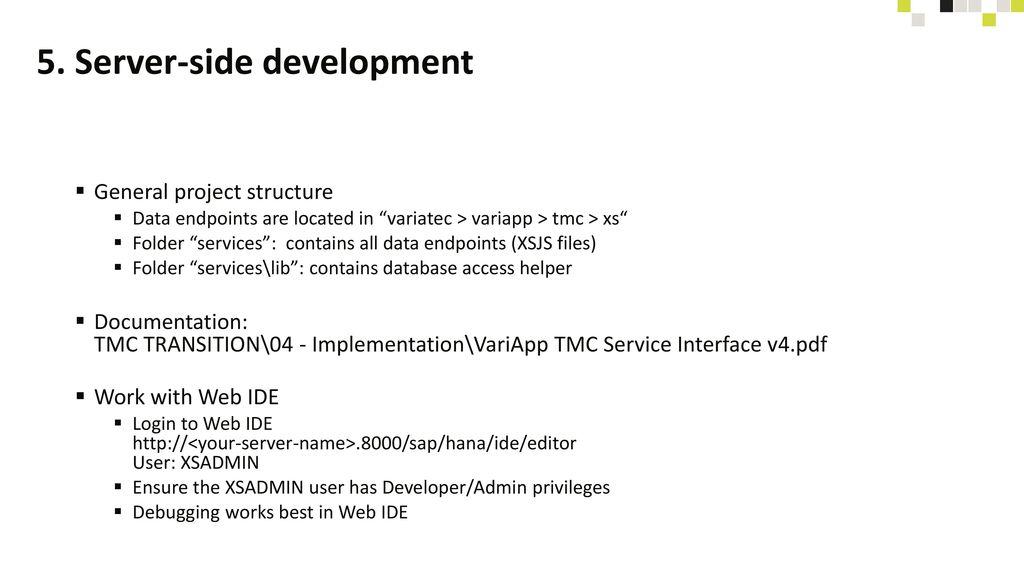 5. Server-side development