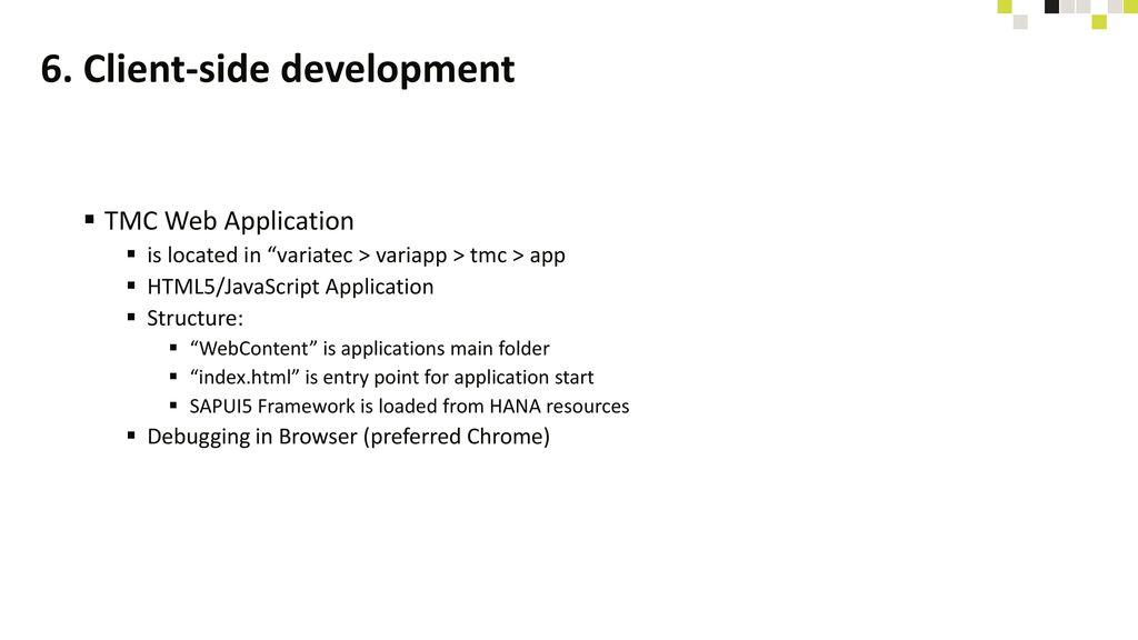 6. Client-side development