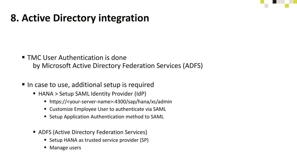 8. Active Directory integration
