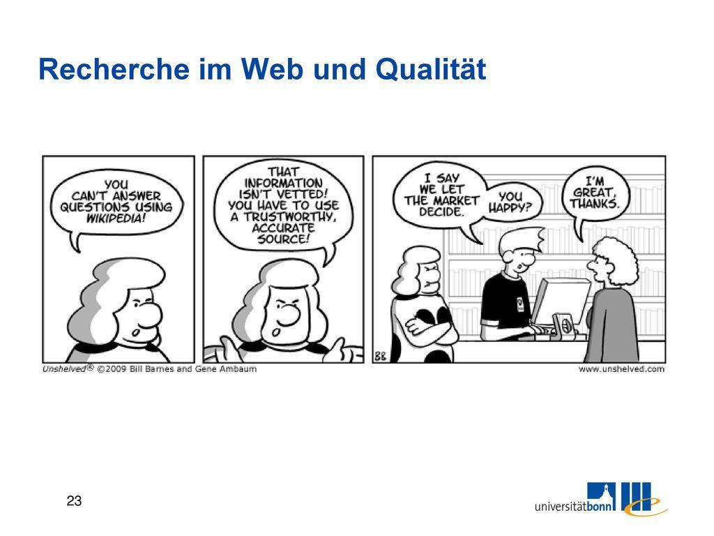 Recherche im Web und Qualität
