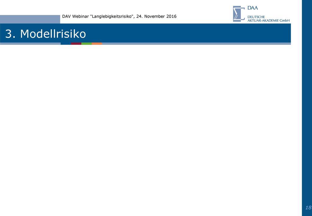 DAV Webinar Langlebigkeitsrisiko , 24. November 2016