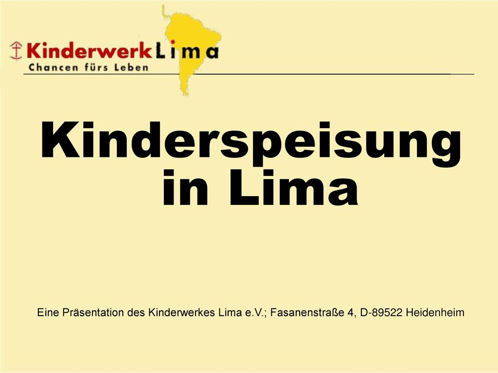 Kinderspeisung in Lima