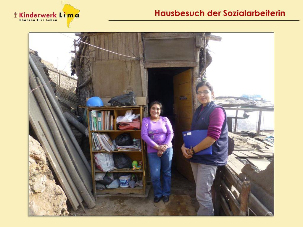 Hausbesuch der Sozialarbeiterin