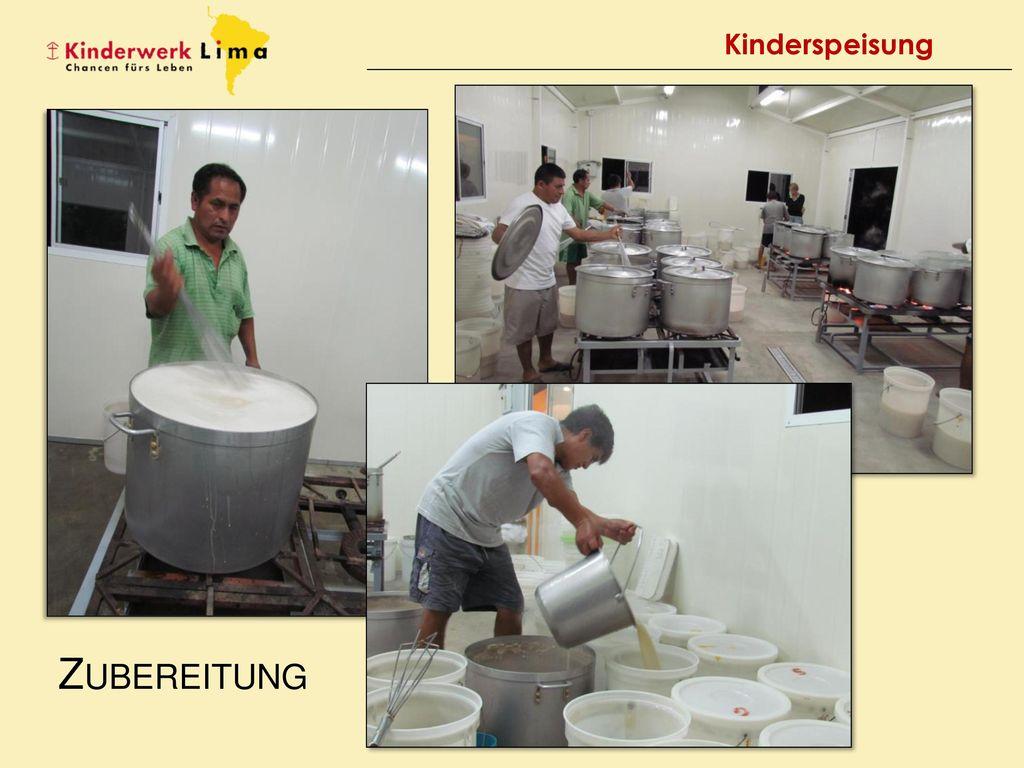 Kinderspeisung Zubereitung