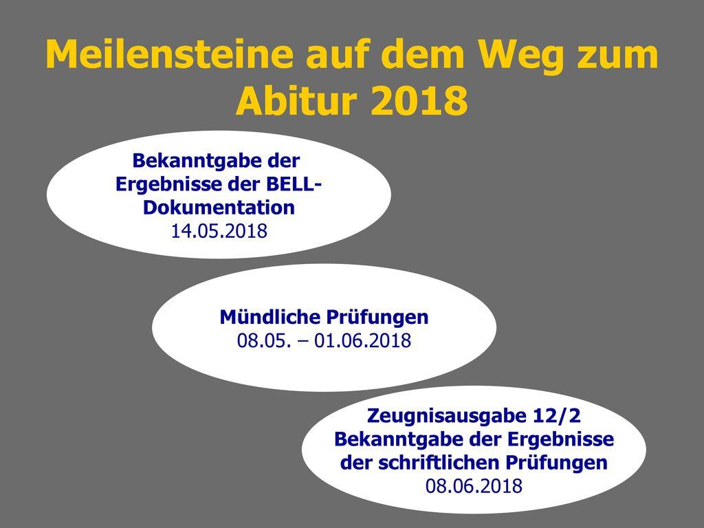 Meilensteine auf dem Weg zum Abitur 2018
