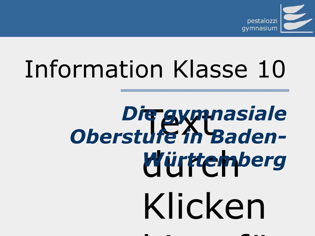 Die gymnasiale Oberstufe in Baden-Württemberg
