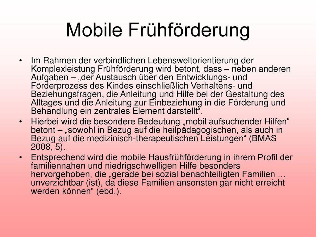 Mobile Frühförderung