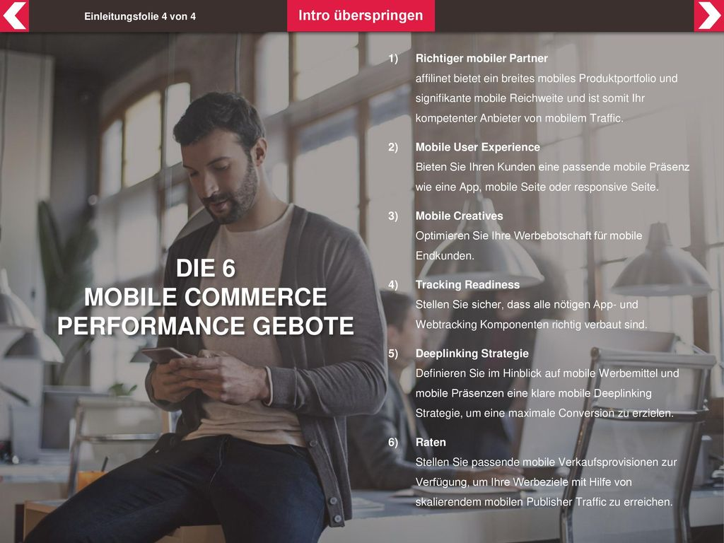 Mobile Commerce Performance Gebote