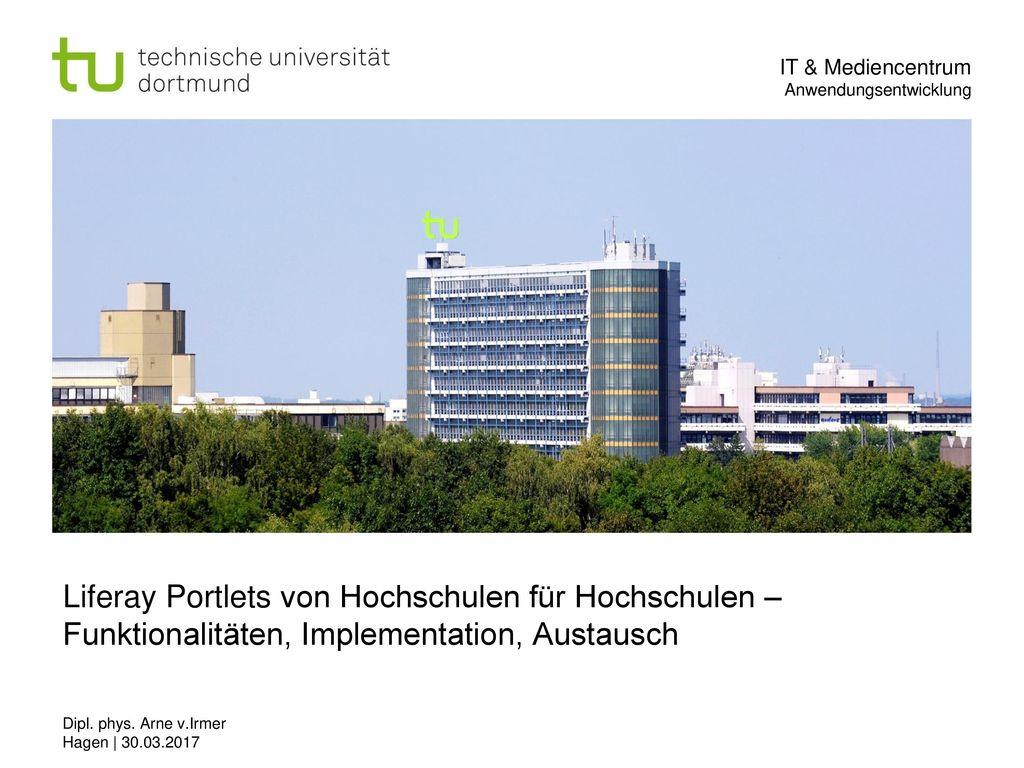 Liferay Portlets von Hochschulen für Hochschulen – Funktionalitäten, Implementation, Austausch