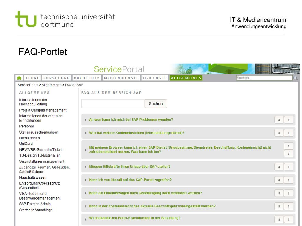FAQ-Portlet Dipl.phys. Arne v.Irmer