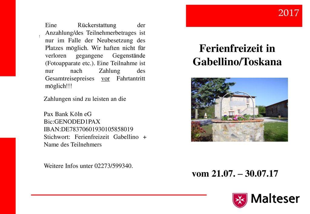 2017 Ferienfreizeit in Gabellino/Toskana vom 21.07. – 30.07.17