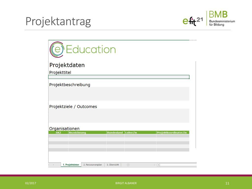 Projektantrag 02/2017 Birgit Albaner