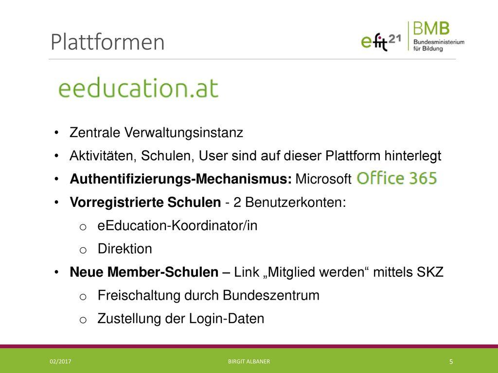 Plattformen Zentrale Verwaltungsinstanz