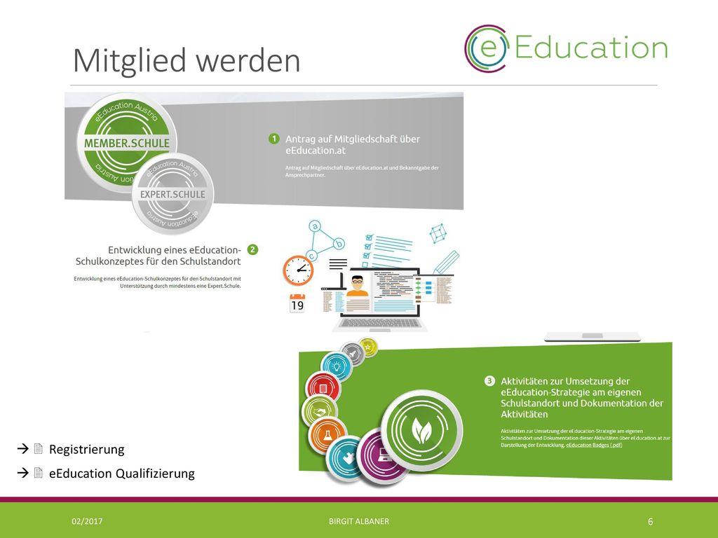 Mitglied werden   Registrierung   eEducation Qualifizierung