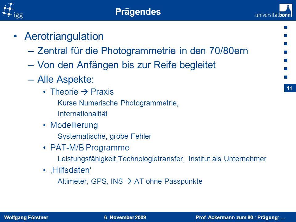 Aerotriangulation Zentral für die Photogrammetrie in den 70/80ern
