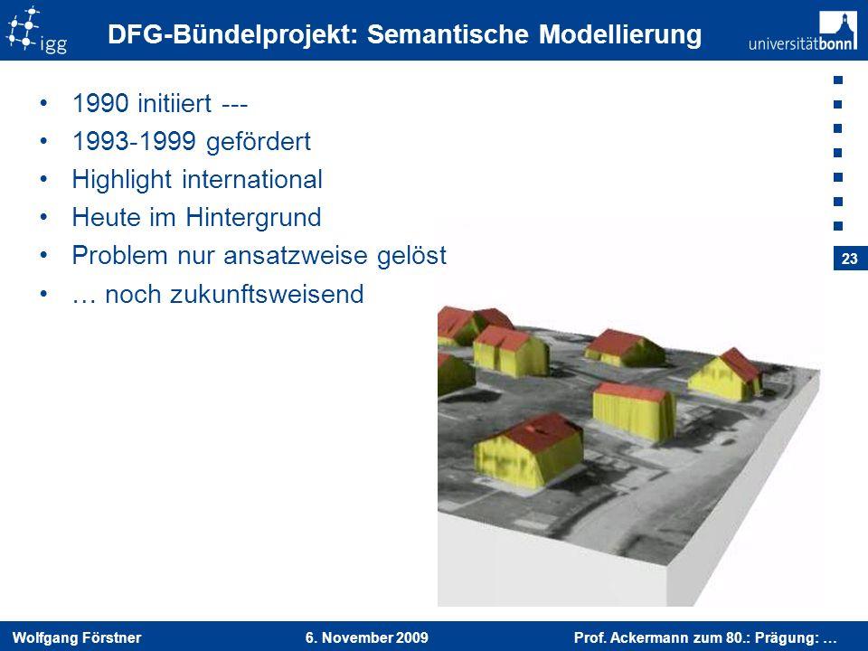 DFG-Bündelprojekt: Semantische Modellierung
