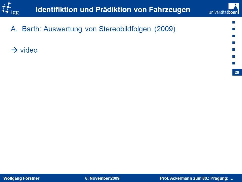 Identifiktion und Prädiktion von Fahrzeugen