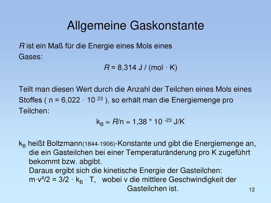 Allgemeine Gaskonstante