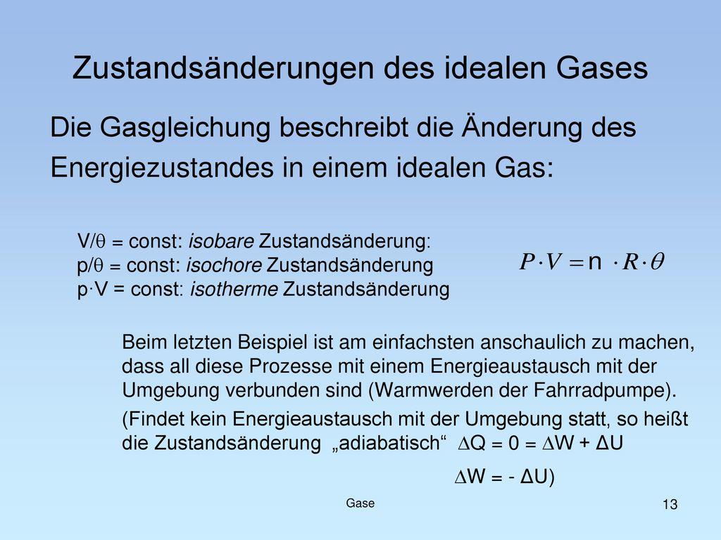 Zustandsänderungen des idealen Gases