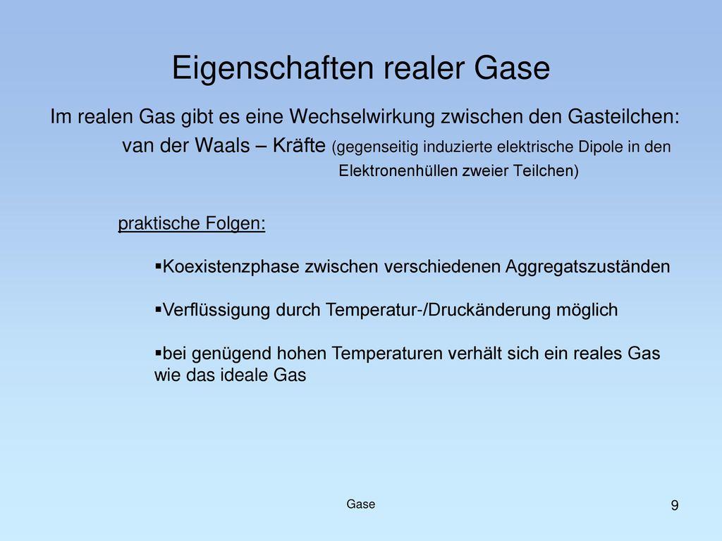 Eigenschaften realer Gase