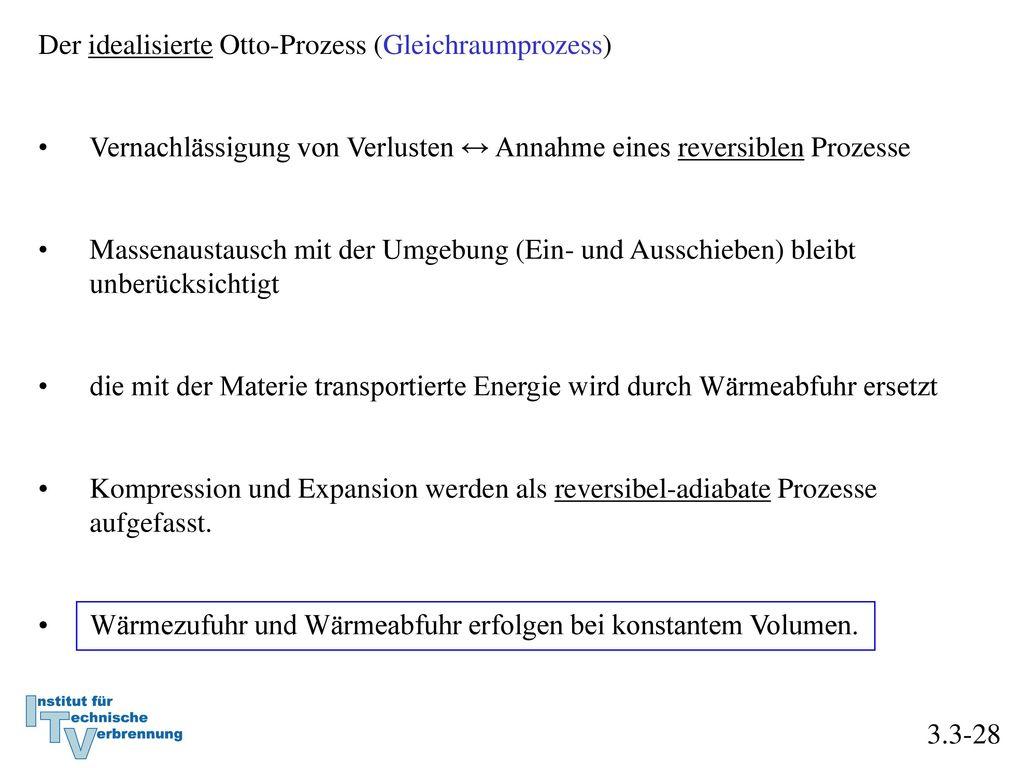 Der idealisierte Otto-Prozess (Gleichraumprozess)