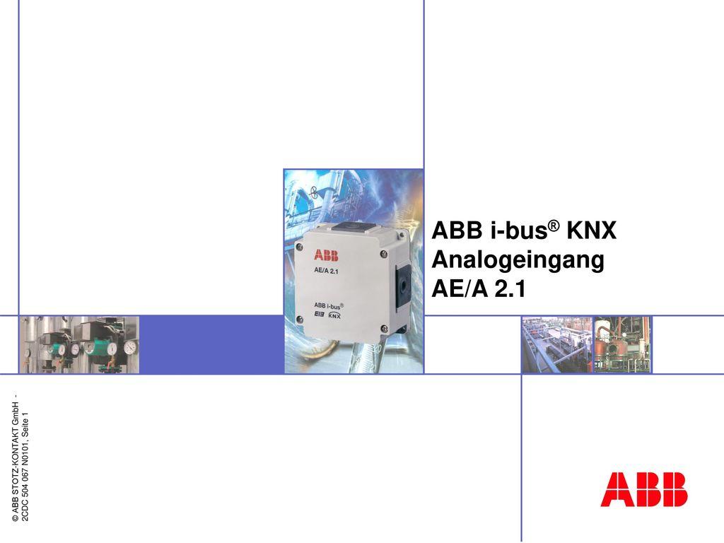 ABB i-bus® KNX Analogeingang AE/A 2.1