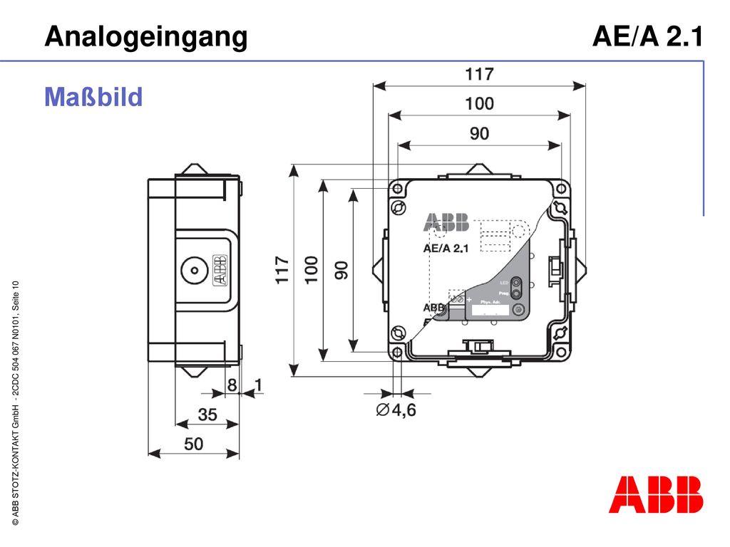 Analogeingang AE/A 2.1 Maßbild