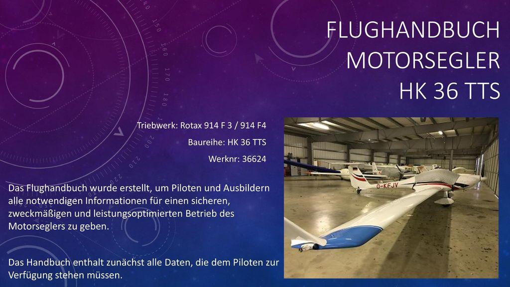 FLUGHANDBUCH MotorsegLer HK 36 TTS