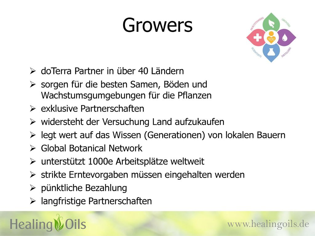 Growers   doTerra Partner in über 40 Ländern