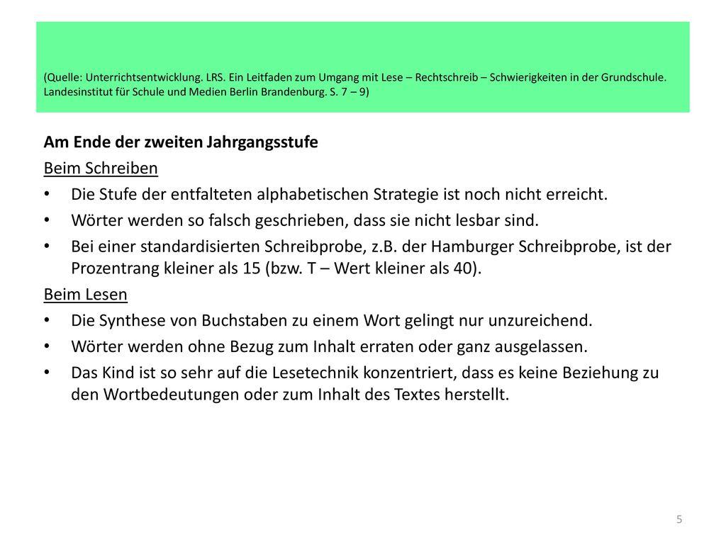 (Quelle: Unterrichtsentwicklung. LRS