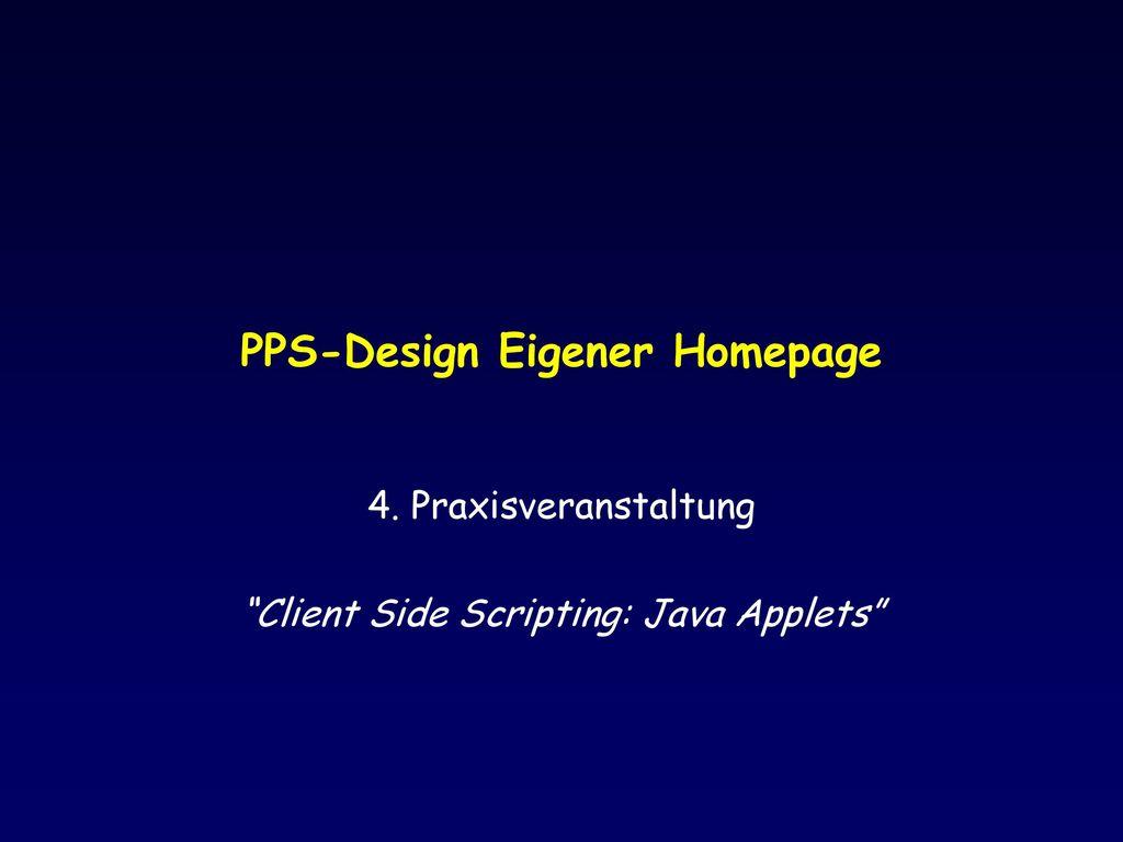 PPS-Design Eigener Homepage