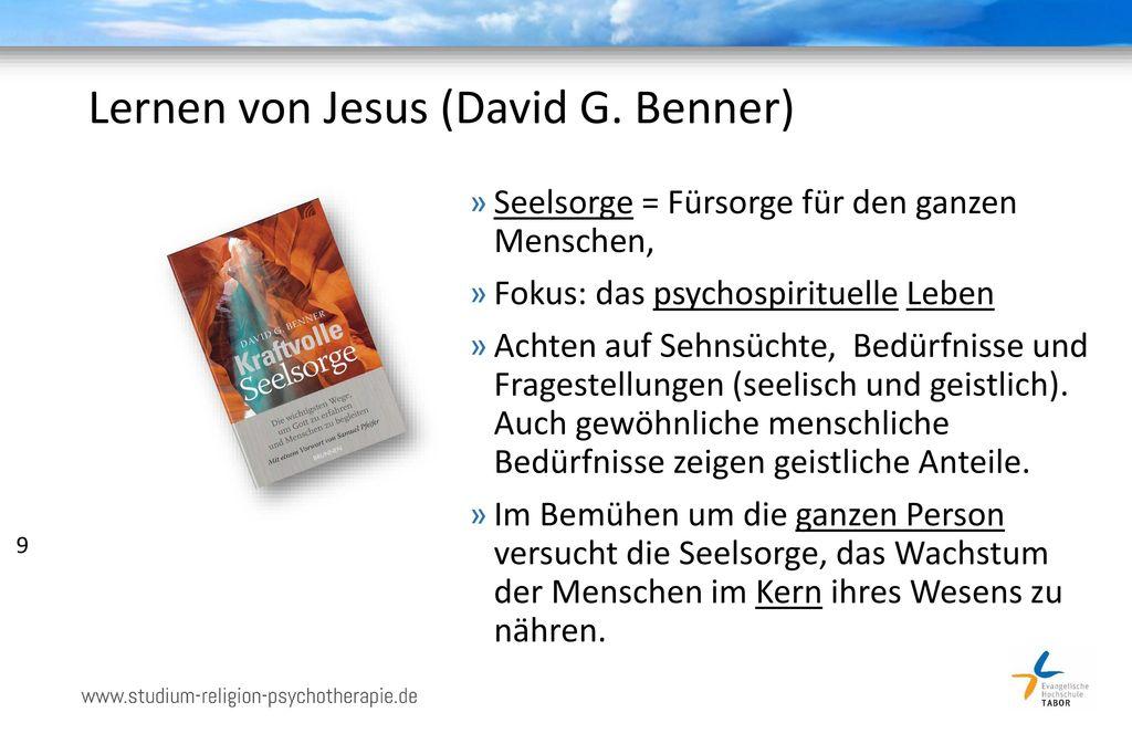 Lernen von Jesus (David G. Benner)