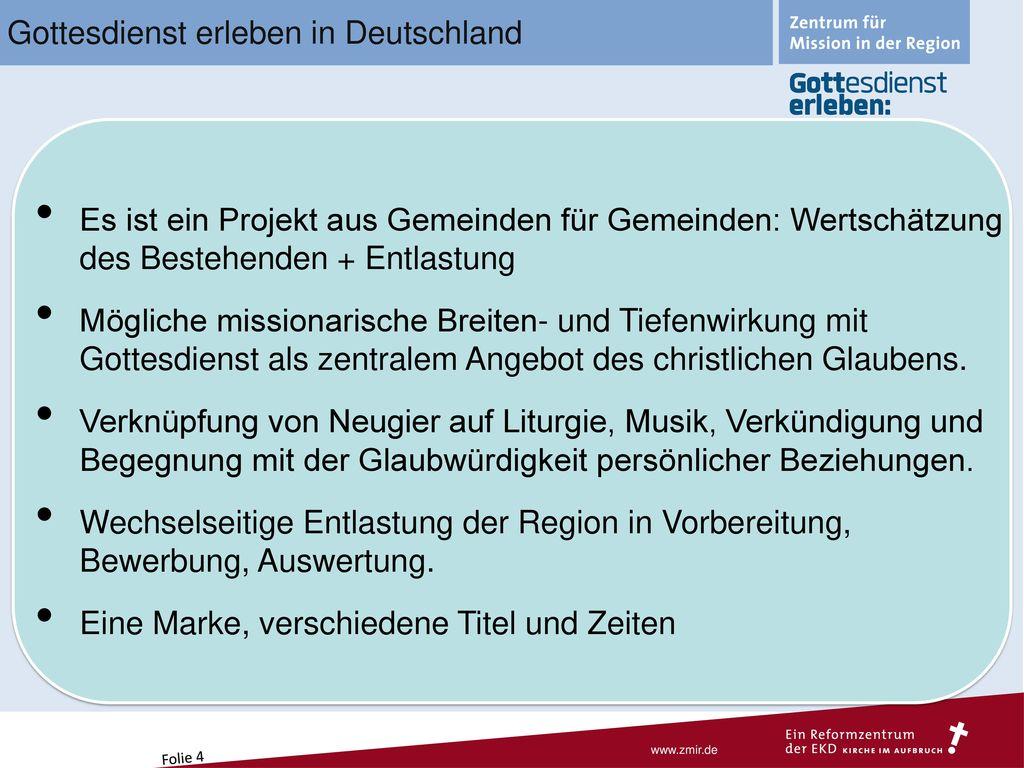 Gottesdienst erleben in Deutschland